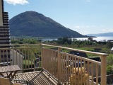 Studio 2 - View from decking over Loch Linnhe and munros
