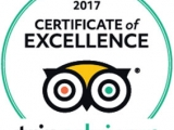 Proud of our TripAdvisor Certificate of Excellence!