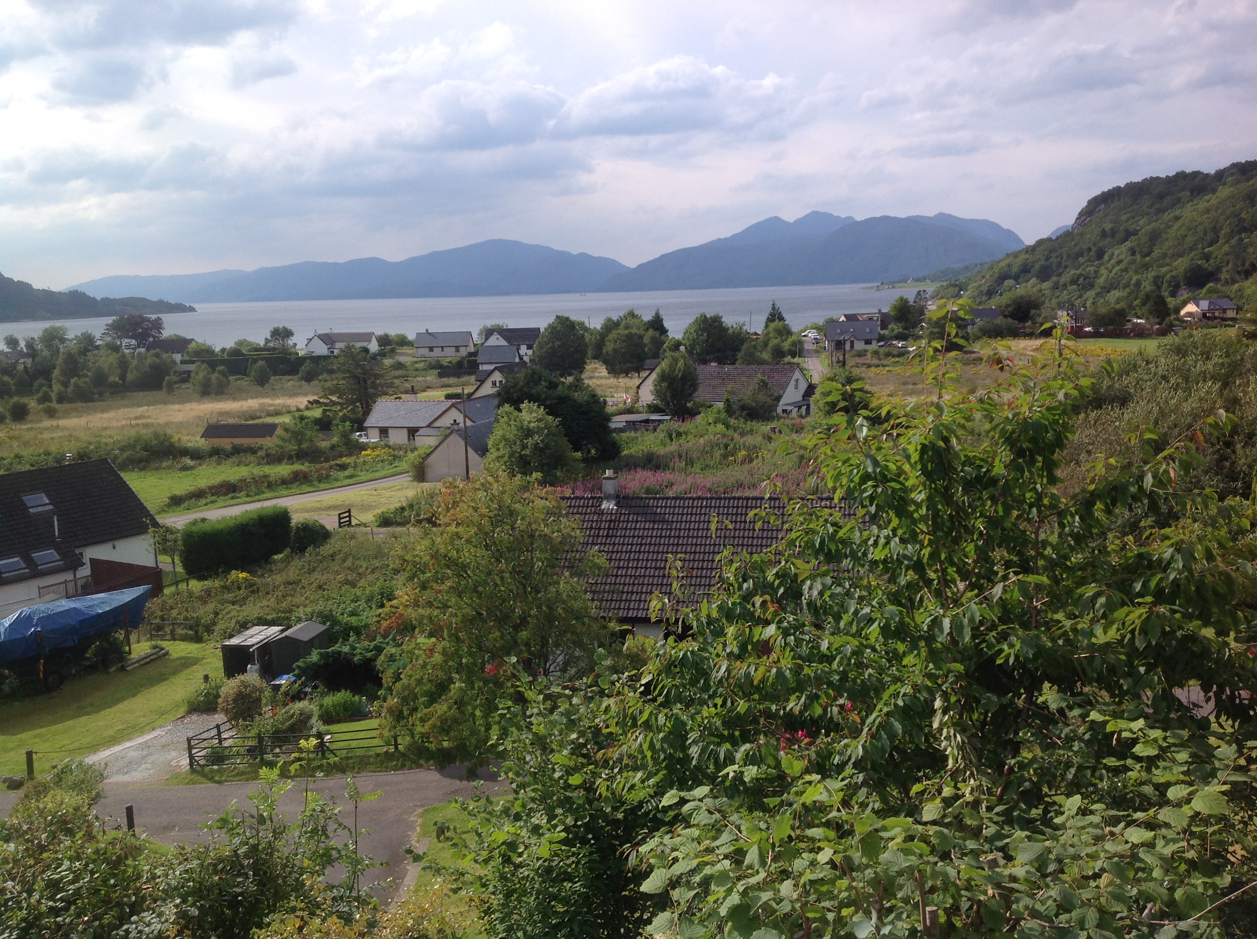 View towards Loch Linnhe from Studio 2