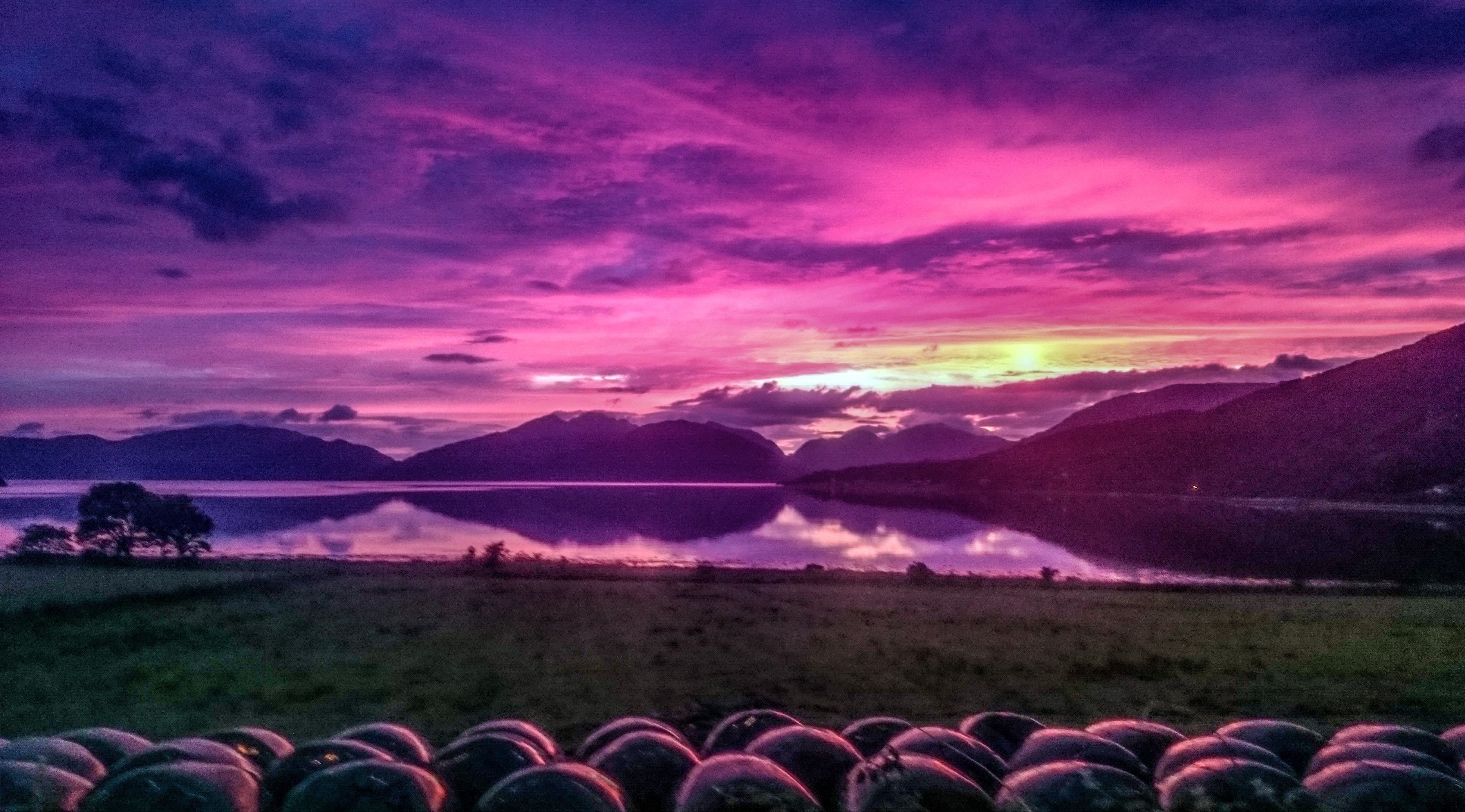 purple sunset Loch Linnhe