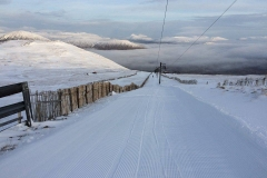 snow at Glencoe ski run